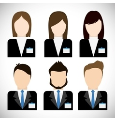 Businesspeople icon business design vector