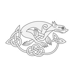 ancient celtic mythological symbol of wolf dog vector image vector image