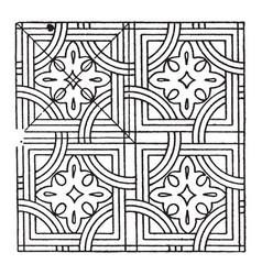 Arabian mosaic stucco on stone is inlaid pieces vector