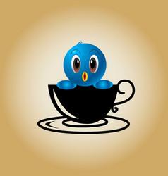 Bird logo coffee vector