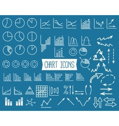 Business Graph Icons Set vector image vector image