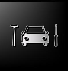 Car tire repair service sign gray 3d vector