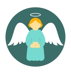 Christmas angel icon flat vector image vector image