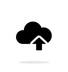 Cloud computing upload simple icon on white vector image