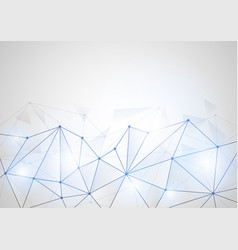 computer generated abstract connected dots vector image