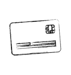 Figure cute credit card to pay electronic vector
