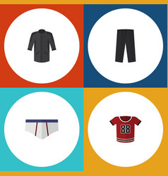 Flat icon clothes set of t-shirt uniform vector