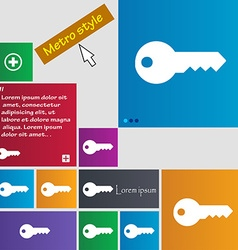 key icon sign buttons Modern interface website vector image
