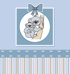 Koalas mother and son vector image vector image