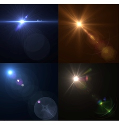 lens flares Set collection vector image