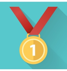 medal flat icon vector image vector image