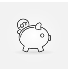 Moneybox line icon vector