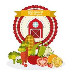 Organic Food design vector image