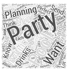 Planning a pool party word cloud concept vector