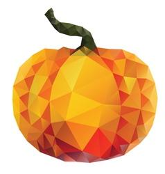Polygonal pumpkin vector