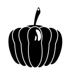 Pumpkin vegetable food fresh pictogram vector