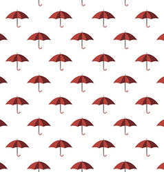 Red umbrella seamless pattern vector image vector image