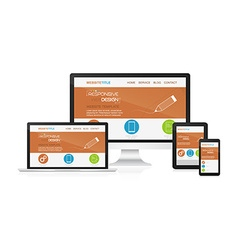 Responsive design and web devices vector image