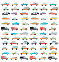 Seamless car pattern on white background vector