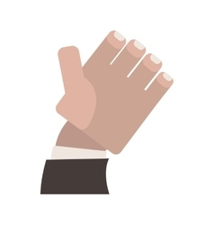 Semi open hand with formal suit sleeve vector