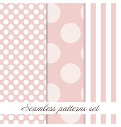 Set Seamless polka dot vintage pattern vector image vector image