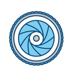 shutter camera symbol vector image