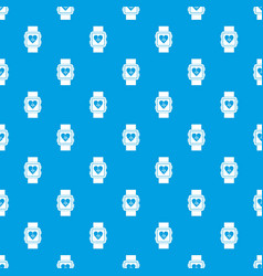 smartwatch pattern seamless blue vector image vector image