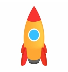 Space rocket 3d isometric icon vector