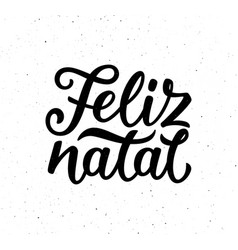 Vintage feliz natal typographic poster vector