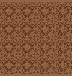 Vintage swirl oriental decorative pattern vector