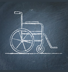 Wheelchair sketch on chalkboard vector