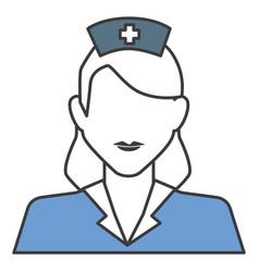 Woman nurse avatar character vector