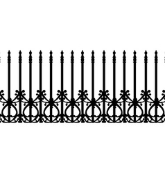 Wrought railing fence vector