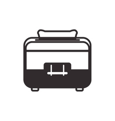 Toaster supply house electric appliance icon vector
