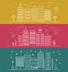 Modern cityline vector