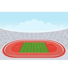 Athletics stadium for competitions vector