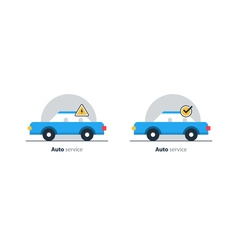 Auto car repair services diagnostic concept vector