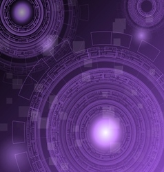 Abstract dark purple technology futuristic vector