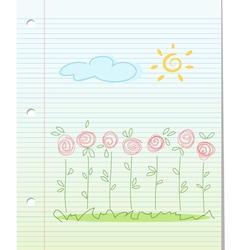Summer garden floral background vector image