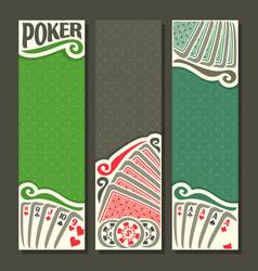 Vertical banner for poker game vector