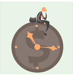 Time against business vector