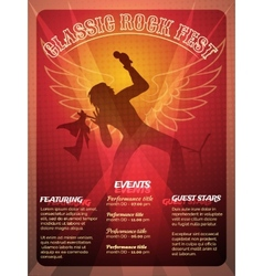 Classic rock fest poster design vector