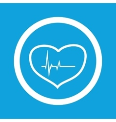 Cardiology sign icon vector