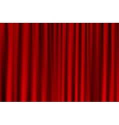 Curtain or drapes red background vector
