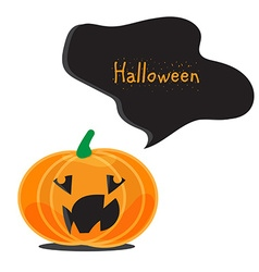 Emotional halloween pumpkins vector