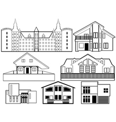 House silhouettes vector