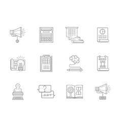 An account planning thin line icons vector