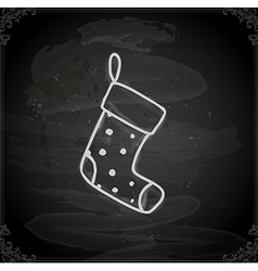 Hand drawn christmas stocking vector