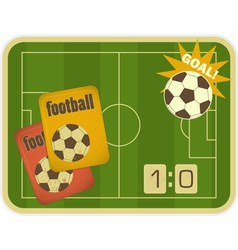 Football card vector image