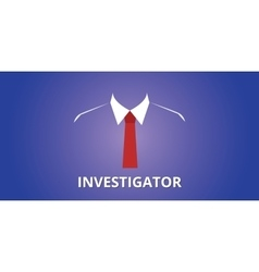 Investigator investigation person vector